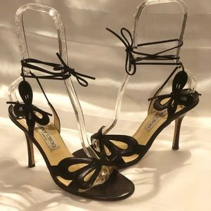 Jimmy Choo lace up Butterfly sandals
